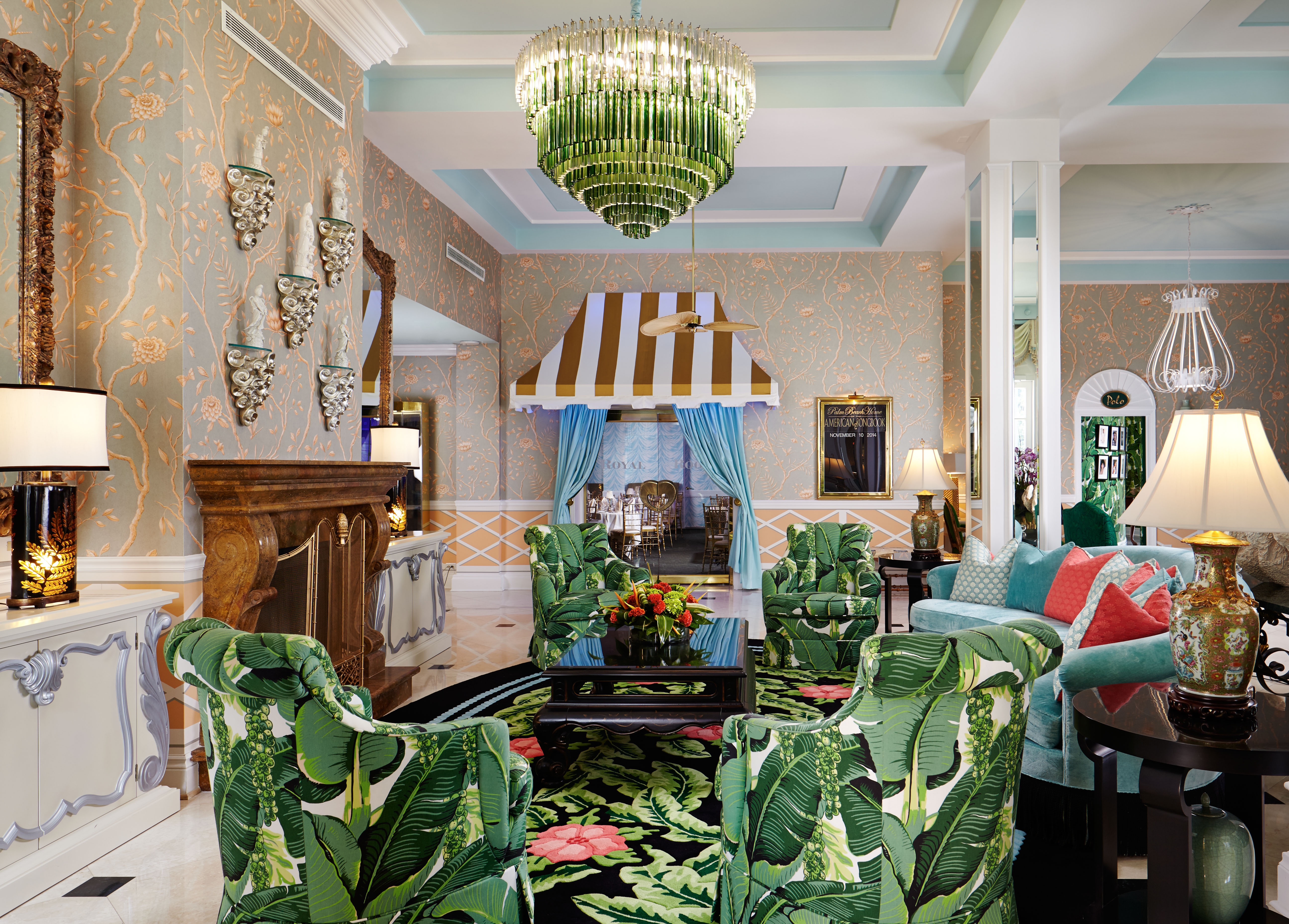 Colony Hotel – Lobby – Design by Dorothy Draper and Co graphic
